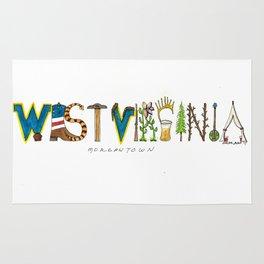 West Virginia - Morgantown Rug