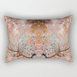 The Lungs of the Earth - Gold, Pink &Turquoise Rectangular Pillow
