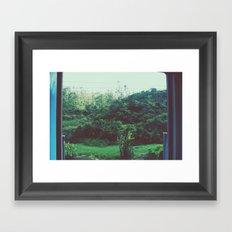 Trainride To Ella Framed Art Print