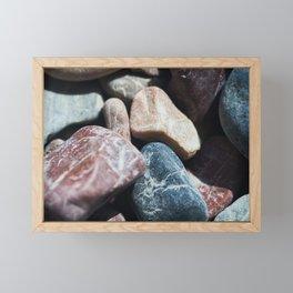 Beach pebbles Framed Mini Art Print