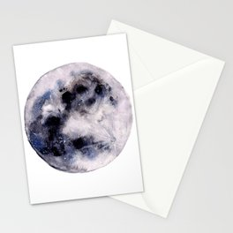 Watercolor moon Stationery Cards