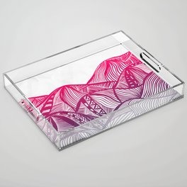 Lines in the mountains 05 Acrylic Tray
