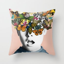 Twiggy Surprise Throw Pillow