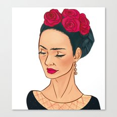 Frida Khalo Illustration by Patricia Falls Canvas Print