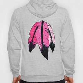 Ombre Feathers in Pink Hoody