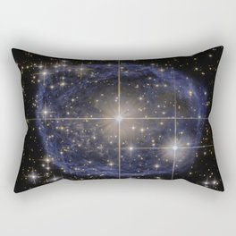 Blue Bubble Nebula Rectangular Pillow