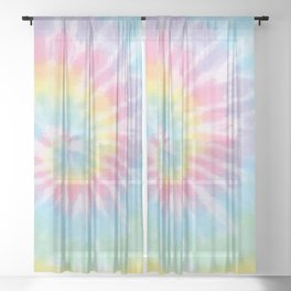Pastel Tie Dye Sheer Curtain