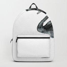 Elegant black white hand painted watercolor swan Backpack