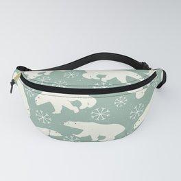 Merry Christmas - Polar bear - Animal pattern Fanny Pack