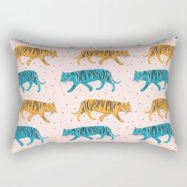 Pop Tigers on blush Rectangular Pillow