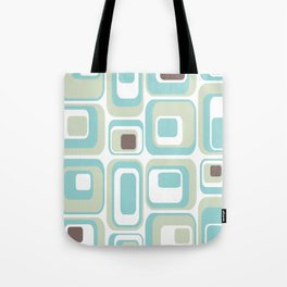 Retro Rectangles Mid Century Modern Geometric Vintage Style Tote Bag