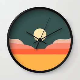 Geometric Landscape 14 Wall Clock