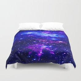 Fox Fur Nebula Galaxy blue purple Duvet Cover