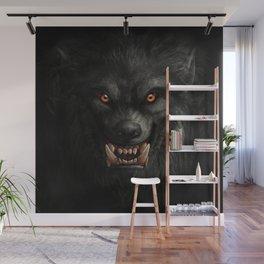 Creepy Art, Halloween, Werewolf, Horror Art Wall Mural
