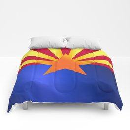 Arizona State Flag Gloss Comforters