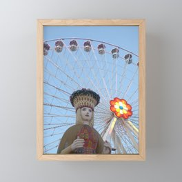 queen of the the prater Framed Mini Art Print