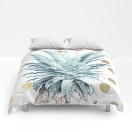 Pineapple crown - gold confetti Comforters