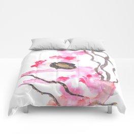 Watercolor Pink Black Flow | [dec-connect] 22. tentacles Comforters