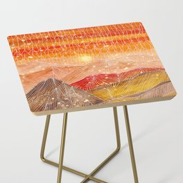 Lines in the mountains XXIV Side Table