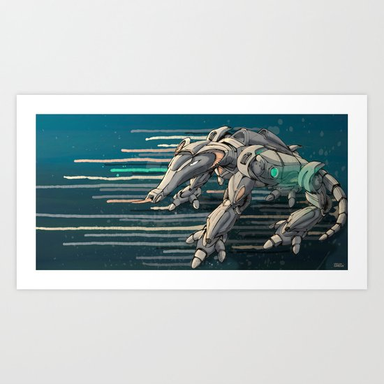 android anteater Art Print