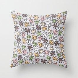 Hippie pattern -Lilac Throw Pillow