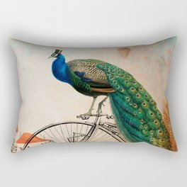 Mr Peacock Sunday Walk Rectangular Pillow
