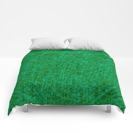 Scratched Green Comforters