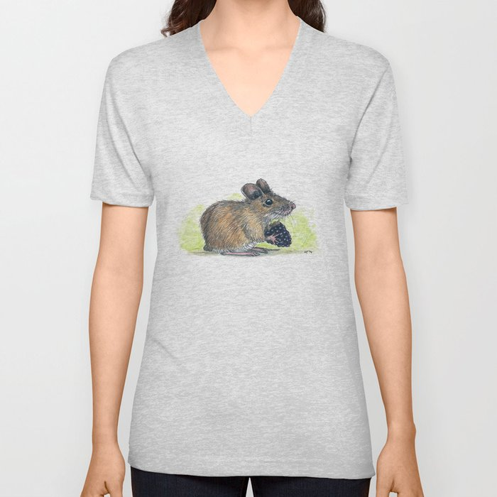 Field Mouse  Unisex V-Neck