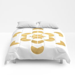 HEXAHEDRON CUBE sacred geometry Comforters