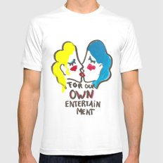 we are lesbians for our own entertainment MEDIUM Mens Fitted Tee White