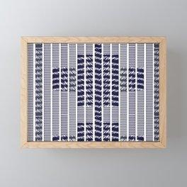 Texture stripe farmhouse style Framed Mini Art Print