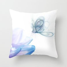Summer Blue Throw Pillow