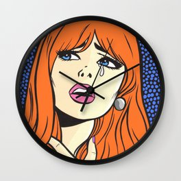 Ginger Crying Comic Girl Wall Clock