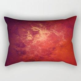 Dark Red Interstellar Galactic Dust Rectangular Pillow