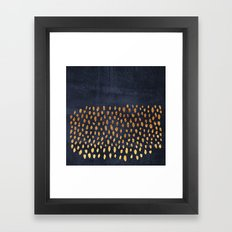 Pattern Play / Navy & Gold Framed Art Print
