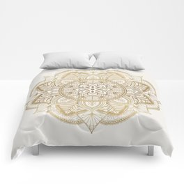 Mandala Beige Creamy Pattern 1 Comforters
