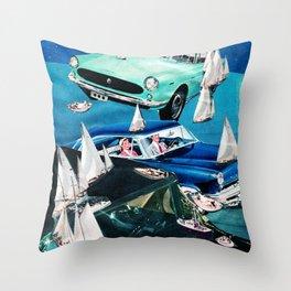 Ocean Roads Throw Pillow