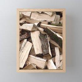 Firewood Framed Mini Art Print