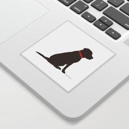 Modern Chocolate Lab Silhouette Sticker