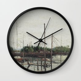 Tom Thomson - Drowned Land - Canada, Canadian Oil Painting - Group of Seven Wall Clock