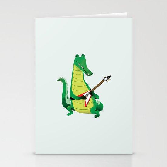 Crocodile Rock Stationery Cards