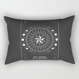 Minimal Tarot Deck The Wheel of Fortune Rectangular Pillow