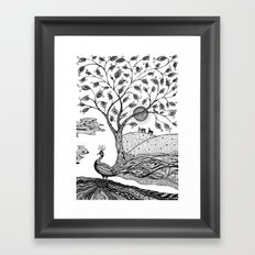 Peacock Fantasy Framed Art Print