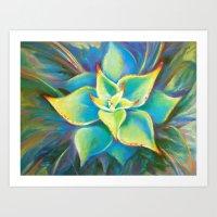 Succulent  Flower Art Print