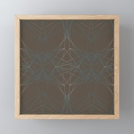 LIGHT LINES ENSEMBLE PATTERN I Framed Mini Art Print