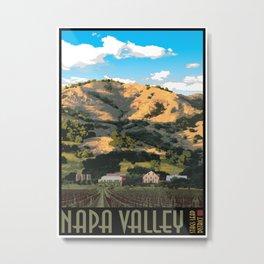 Napa Valley - Regusci Vineyards Metal Print