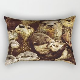 Otters Rectangular Pillow