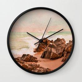 evening waves Wall Clock