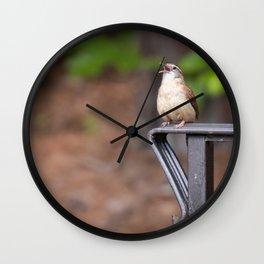 Caroline Wren belts out a Song Wall Clock