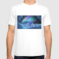 MERRY CHRISTMAS Mens Fitted Tee White MEDIUM